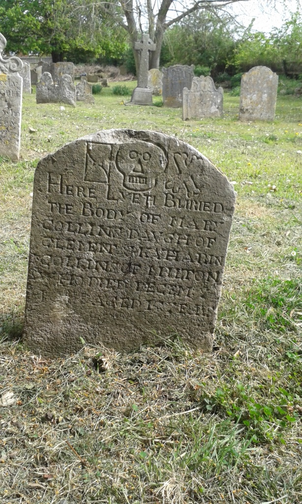 Milton church gravestone